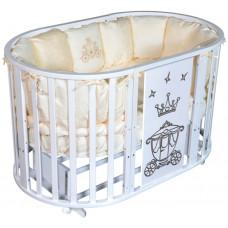 Кроватка Кедр Sofia 2 круг-овал, Crown