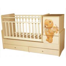 Кроватка КЕДР Martina 2 Teddy